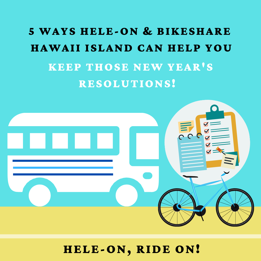 5 Ways to Keep Your New Year's Resolutions with Bikeshare Hawaii