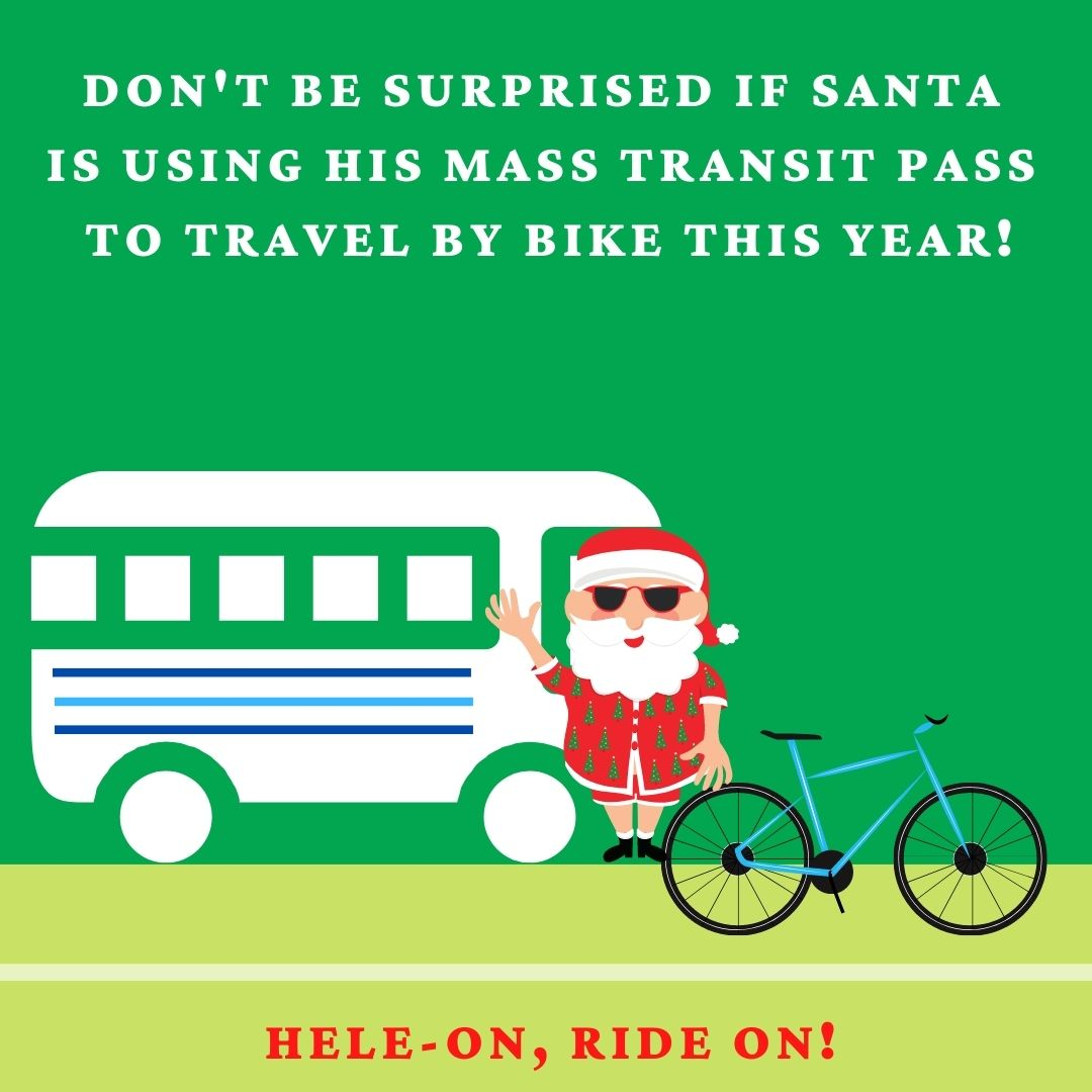 Beat the holiday stress with a bike ride!